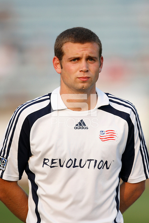 New England Revolution defender Sam Brill (34). The New England Revolution (MLS) defeated Crystal Palace FC USA of Baltimore (USL2) 5-3 in penalty kicks after finishing regulation and overtime tied at 1-1 during a Lamar Hunt US Open Cup quarterfinal match at Veterans Stadium in New Britain, CT, on July 8, 2008.