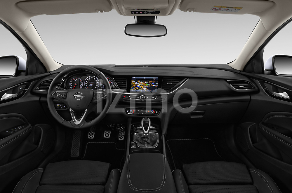 Stock photo of straight dashboard view of 2017 Opel Insignia Grand Sport Dynamic 5 Door Hatchback