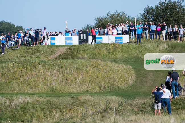 Sergio Garcia (ESP) in action on the 11th hole during the 3rd round at the KLM Open, The International, Amsterdam, Badhoevedorp, Netherlands. 14/09/19.<br /> Picture Stefano Di Maria / Golffile.ie<br /> <br /> All photo usage must carry mandatory copyright credit (© Golffile | Stefano Di Maria)