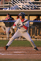 August 8, 2004:  Christian Lara of the Lowell Spinners, Single-A NY-Penn League affiliate of the Boston Red Sox, during a game at Dwyer Stadium in Batavia, NY.  Photo by:  Mike Janes/Four Seam Images