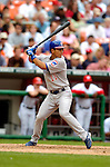 15 May 2005: Ronny Cedeno, shortstop for the Chicago Cubs, at bat against the Washington Nationals, as the Nationals defeat the visiting Cubs 5-4, to take the 3-game series three games to two, at RFK Stadium in Washington, DC.  Mandatory Photo Credit: Ed Wolfstein