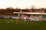 Brackley's first goal scored by Gareth Dean. Blyth Spartans v Brackley Town, 30112019. Croft Park, National League North. Photo by Paul Thompson.