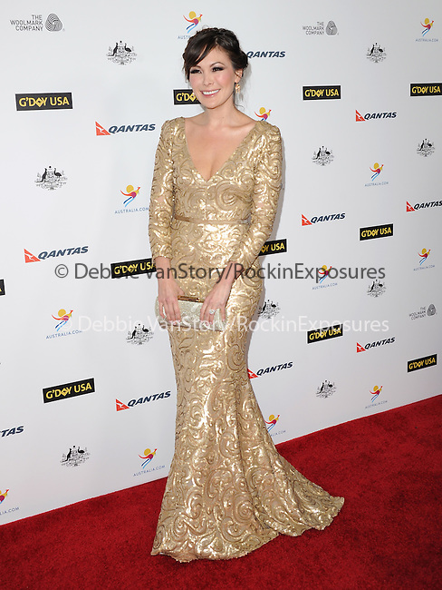 Lindsay Price Stone attends The G'Day USA Black Tie Gala held at  JW Marriot at LA Live in Los Angeles, California on January 11,2014                                                                               © 2014 Hollywood Press Agency