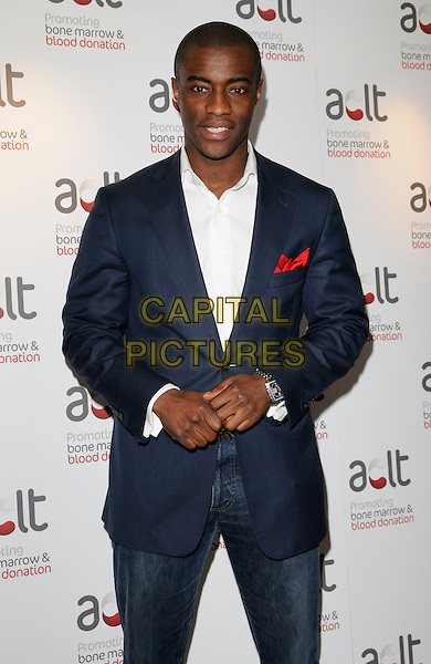 TIM CAMPBELL .Inside arrivals at the ACLT launch Party, Riverbank Park Plaza Hotel, London, England, April 28th 2008..half length blue jacket suit jeans .CAP/CAN.©Can Nguyen/Capital Pictures