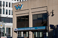 A Canadian Western Bank branch is pictured in Winnipeg Wednesday May 25, 2011. The Canadian Western Bank (French: La Banque Albertaine Canadian Western Bank) (TSX: CWB) is a bank that is based in Edmonton, and which operates primarily in western Canada.