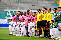 CALI -COLOMBIA, 11-09-2016. Formación del Boyacá Chicó .Acción de juego entre Cali y Boyacá Chicó  durante encuentro  por la fecha 11 de la Liga Aguila II 2016 disputado en el estadio del Deportivo Cali en Palmaseca./ Team of Boyacá Chicó.Action game between Cali and Boyaca Chico during match for the date 11 of the Aguila League II 2016 played at Deportivo Cali  stadium in Palmaseca. Photo:VizzorImage / Nelson Rios  / Cont