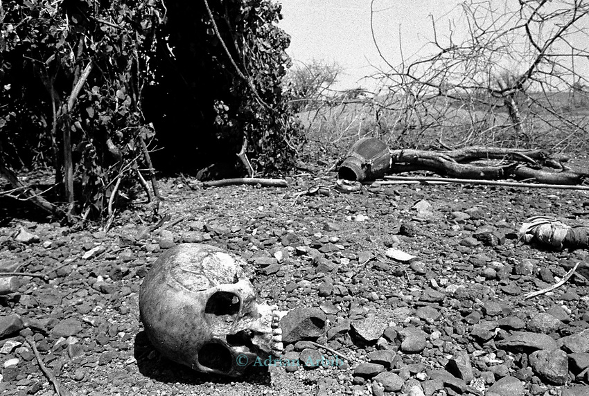 The result of a massacre in a Turkana Village, Lokitaung nr. the Ilami triangle in the Northern part of the Kenya bordering Sudan and Ethiopia.<br /> A marauding neighbouring tribe (Toposa) shot the 15 residents mainly women and children.