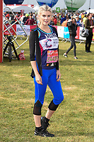 Ashley James at the start of the 2017 London Marathon on Blackheath Common, London, UK. <br /> 23 April  2017<br /> Picture: Steve Vas/Featureflash/SilverHub 0208 004 5359 sales@silverhubmedia.com