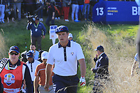 Bryson Dechambeau (Team USA) walks off the 13th tee during Saturday's Foursomes Matches at the 2018 Ryder Cup 2018, Le Golf National, Ile-de-France, France. 29/09/2018.<br /> Picture Eoin Clarke / Golffile.ie<br /> <br /> All photo usage must carry mandatory copyright credit (&copy; Golffile | Eoin Clarke)