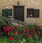 "VMI Vincentian Heritage Tour: Small garden outside a home in the village of Pérouges  - Tuesday, June 28, 2016, site of the classic film ""Monsieur Vincent"". (DePaul University/Jamie Moncrief)"