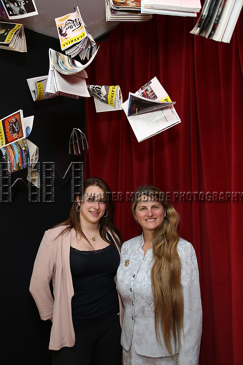 Leah Lane and Bonnie Comley visit Curtain Up: Celebrating the Last 40 Years of Theatre in New York and London Exhibition on June 14, 2017 at the New York Public Library for the Performing Arts at Lincoln Center.