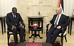 Palestinian Prime Minister Rami Hamdallah meets with the Secretary General of the International Federation of Red Cross and Red Crescent Societies (IFRC), Elhadj As Sy in the West Bank city of Ramallah on June 9, 2015. Photo by Prime Minister Office