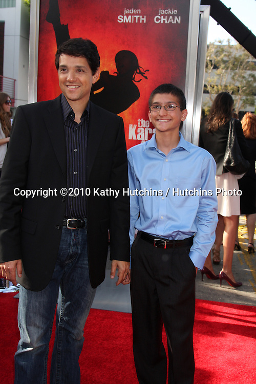 "Ralph Macchio & son Daniel.arrives at ""The Karate Kid"" Movie Premire.Village Theater.Westwood, CA.June 7, 2010.©2010 Kathy Hutchins / Hutchins Photo.."