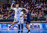 Maximilian JANKE (#13 SC DHfK Leipzig) \ beim Spiel in der Handball Bundesliga, SG BBM Bietigheim - SC DHfK Leipzig.<br /> <br /> Foto &copy; PIX-Sportfotos *** Foto ist honorarpflichtig! *** Auf Anfrage in hoeherer Qualitaet/Aufloesung. Belegexemplar erbeten. Veroeffentlichung ausschliesslich fuer journalistisch-publizistische Zwecke. For editorial use only.