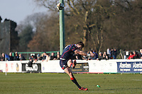 Peter Lydon of London Scottish during the Greene King IPA Championship match between London Scottish Football Club and Jersey at Richmond Athletic Ground, Richmond, United Kingdom on 18 February 2017. Photo by David Horn / PRiME Media Images.