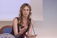 Roma, 5 Agosto 2015<br /> Palazo Chigi.<br /> La Ministra Maria Anna Madia  illustra alla stampa la legge di riforma della Pubblica amministrazione