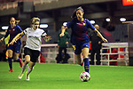 UEFA Women's Champions League 2017/2018.<br /> Round of 16.<br /> FC Barcelona vs Gintra Universitetas: 3-0.<br /> Lyubov Gudchenko vs Leila Ouahabi.