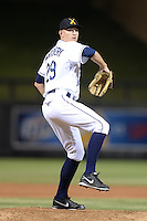 Salt River Rafters pitcher Mike Montgomery (29), of the Tampa Bay Rays organization, during an Arizona Fall League game against the Mesa Solar Sox on October 10, 2013 at Salt River Fields at Talking Stick in Scottsdale, Arizona.  Mesa defeated Salt River 8-1.  (Mike Janes/Four Seam Images)