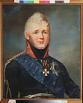 Portrait of Emperor Alexander I (1777-1825)<br /> Artist: Shchukin, Stepan Semyonovich(1762-1828)<br /> Museum: State V. Tropinin-Museum, Moscow<br /> Method: Oil on canvas<br /> Created: after 1805<br /> School: Russia<br /> Category: Portrait<br /> Trend in art: Russian Painting of 19th cen.