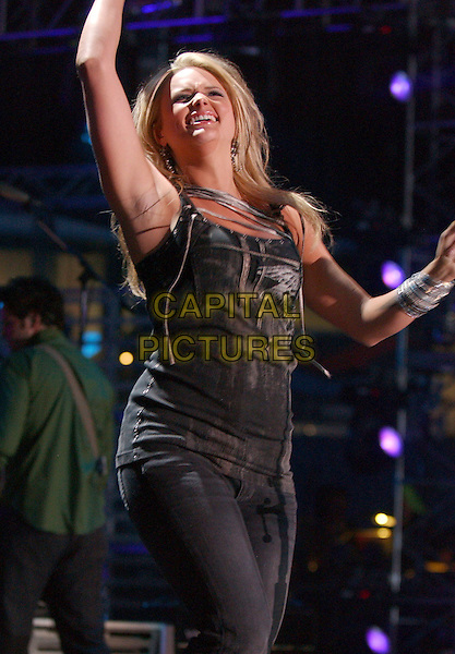 MIRANDA LAMBERT.2007 CMA Music Festival held at LP Field,Nashville, Tennessee, USA, 10  June 2007..half length country concert performing live on stage black top .CAP/ADM/LF.©Laura Farr/AdMedia/Capital Pictures.