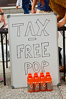 Libertarian Party of Chicago Protest Cook County Pop Tax Chicago Illinois August 2nd, 2017