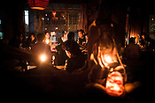 Locals and Foreigners both frequent the popular Buddha Bar in Thamel in capital Kathmandu, Nepal