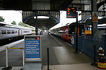 Trains at Norwich railway station, Norfolk, England