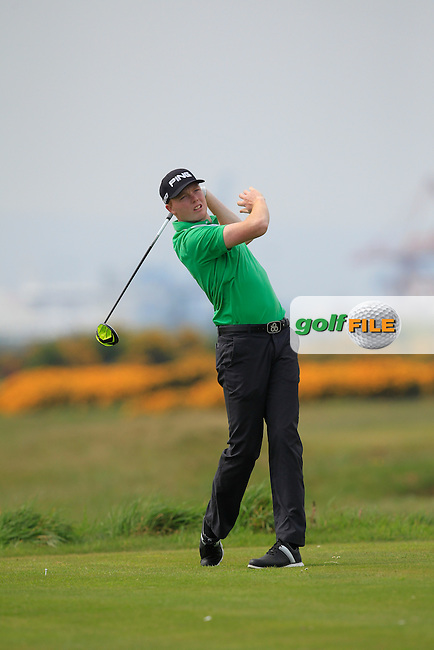 Robin Dawson (Waterford) on the 3rd tee during the Flogas Irish Amateur Open Championship Am-Am at Royal Dublin on Monday 9th May 2016.<br /> Picture:  Thos Caffrey / www.golffile.ie