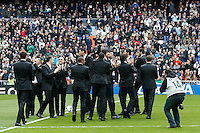 22.02.201a SPAIN -  La Liga 13/14 Matchday 25th  match played between Real Madrid CF vs Elche at Santiago Bernabeu stadium. The picture show