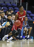 Washington, DC - March 10, 2018: Saint Joseph's Hawks dribbles the ball during the Atlantic 10 semi final game between Saint Joseph's and Rhode Island at  Capital One Arena in Washington, DC.   (Photo by Elliott Brown/Media Images International)