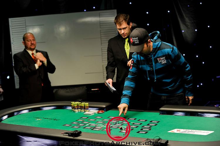 Team Pokerstars.net Pro Daniel Negreanu picks his seat draw.