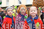 LADYBIRDS Jolie McClean, Elie Finnegan, and Doireann Dwyer from Kilcummin marching in the Killarney St Patrick's Day parade.