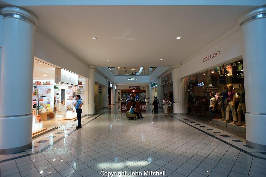 Interior of the Gran Plaza shopping mall on Paseo de Montejo  in Merida, Yucatan, Mexico...