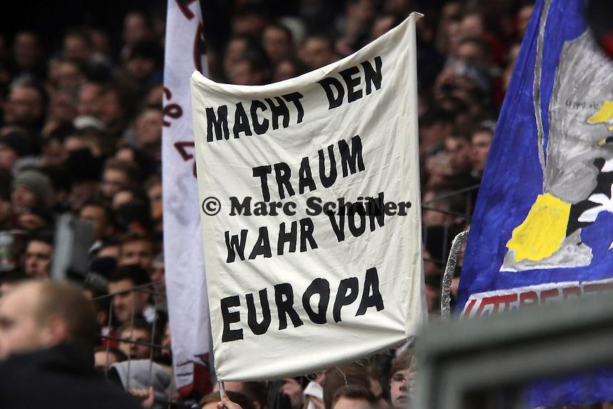 Eintracht Fans traeumen vom Europapokal