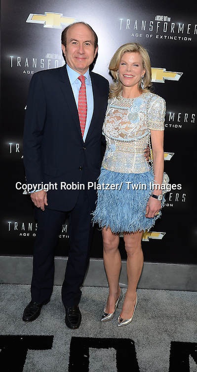 "Philippe Dauman and wife Deborah attend the US Premiere of ""Transformers: Age of Extinction"" on June 25, 2014 at The Ziegfeld Theatre in New York City, New York, USA."