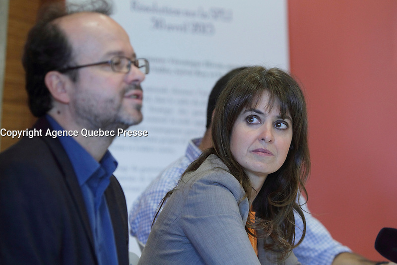 Veronique Hivon ,Minister for Social Services and Youth Protection, Quebec<br /> <br /> File Photo : Agence Quebec Presse  - Pierre Roussel
