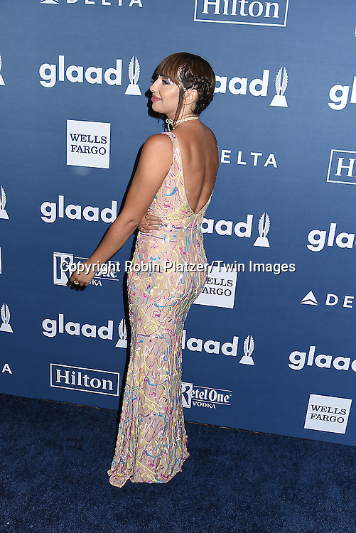Jackie Cruz attends the 27th Annual GLAAD Media Awards on May 14, 2016 at the Waldorf Astoria Hotel in New York City, New York, USA.<br /> <br /> photo by Robin Platzer/Twin Images<br />  <br /> phone number 212-935-0770