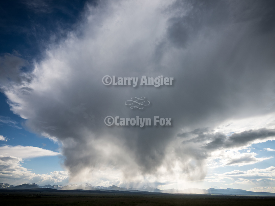 Afternoon storm building over the Beayerhead Mountains, Big Hole Valley, Montana
