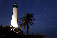 Bill Baggs Cape Florida State Park on Key Biscayne has a 65 foot lighthouse built in 1825 as a focal point for visitors. It is open a couple days a week and sometimes a volunteer opens it.  .The park is named for a late Miami newspaper editor that championed making the park..It is a quiet destination, the southern most point of the island..