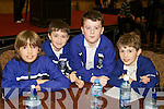 Pictured at the Tralee Credit Union Schools Quiz Brandon hotel on Sunday were Patrick Boyle, Odhran Liston, Jason Maloney and Patrick Roche from CBS Tralee.