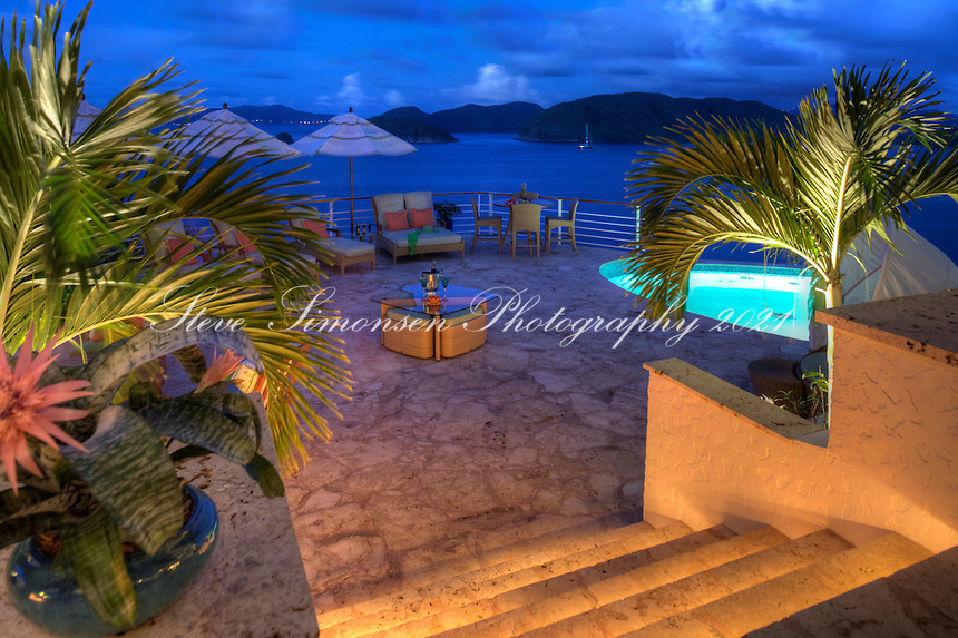 Cliff House, Peter Bay.Virgin Islands National Park.St. John, Virgin Islands