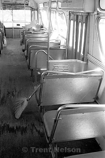 Broom inside bus<br />