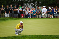 Tiger Woods (USA) lines up his putt on 5 during Rd3 of the 2019 BMW Championship, Medinah Golf Club, Chicago, Illinois, USA. 8/17/2019.<br /> Picture Ken Murray / Golffile.ie<br /> <br /> All photo usage must carry mandatory copyright credit (© Golffile   Ken Murray)
