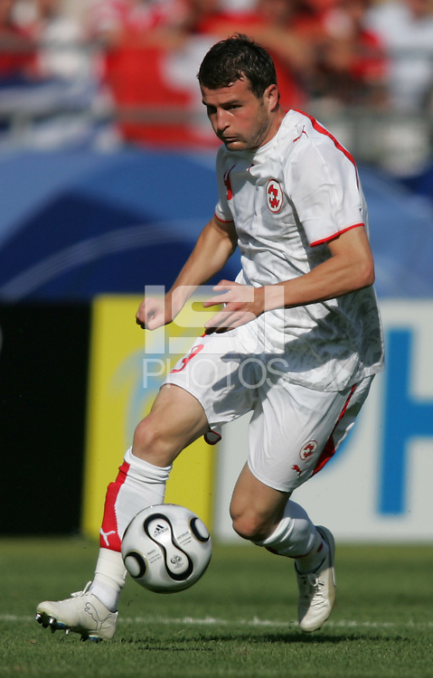 Alexander Frei (9) of Switzerland. France and Switzerland played to a 0-0 tie in their FIFA World Cup Group G match at the Gottlieb-Daimler-Stadion, Stuttgart , Germany, on Tuesday, June 13, 2006.