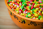 horizontal bowl candy corn still life autumn fall Halloween holiday tradition traditional candies food sugar sugary sweet treat colorful colourful dish festive