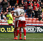 Ryan Flynn of Sheffield Utd celebrates scoring the second goal during the Sky Bet League One match at The Bramall Lane Stadium.  Photo credit should read: Simon Bellis/Sportimage
