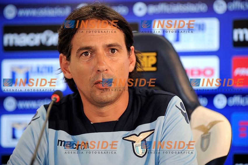 09 07 2016 Roma<br /> Conferenza stampa di presentazione dell'allenatore della Lazio <br /> New SS Lazio coach Simone Inzaghi <br /> nella foto Simone Inzaghi <br /> Foto Marco Rosi/Fotonotizia/Insidefoto