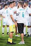 Real Madrid's Keylor Navas and Sergio Ramos during XXXVIII Santiago Bernabeu Trophy at Santiago Bernabeu Stadium in Madrid, Spain August 23, 2017. (ALTERPHOTOS/Borja B.Hojas)