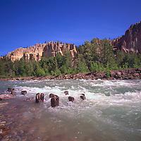 Hoodoos at Dutch Creek along Highway 93, near Fairmont Hot Springs, Canadian Rockies, BC, British Columbia, Canada, Summer