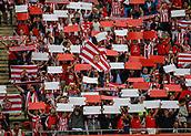June 4th 2017, Estadi Montilivi,  Girona, Catalonia, Spain; Spanish Segunda División Football, Girona versus Zaragoza; Girona supporters before the kick off